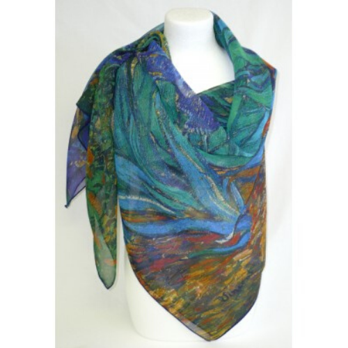 Foulard Made in France Iris de Van Gogh
